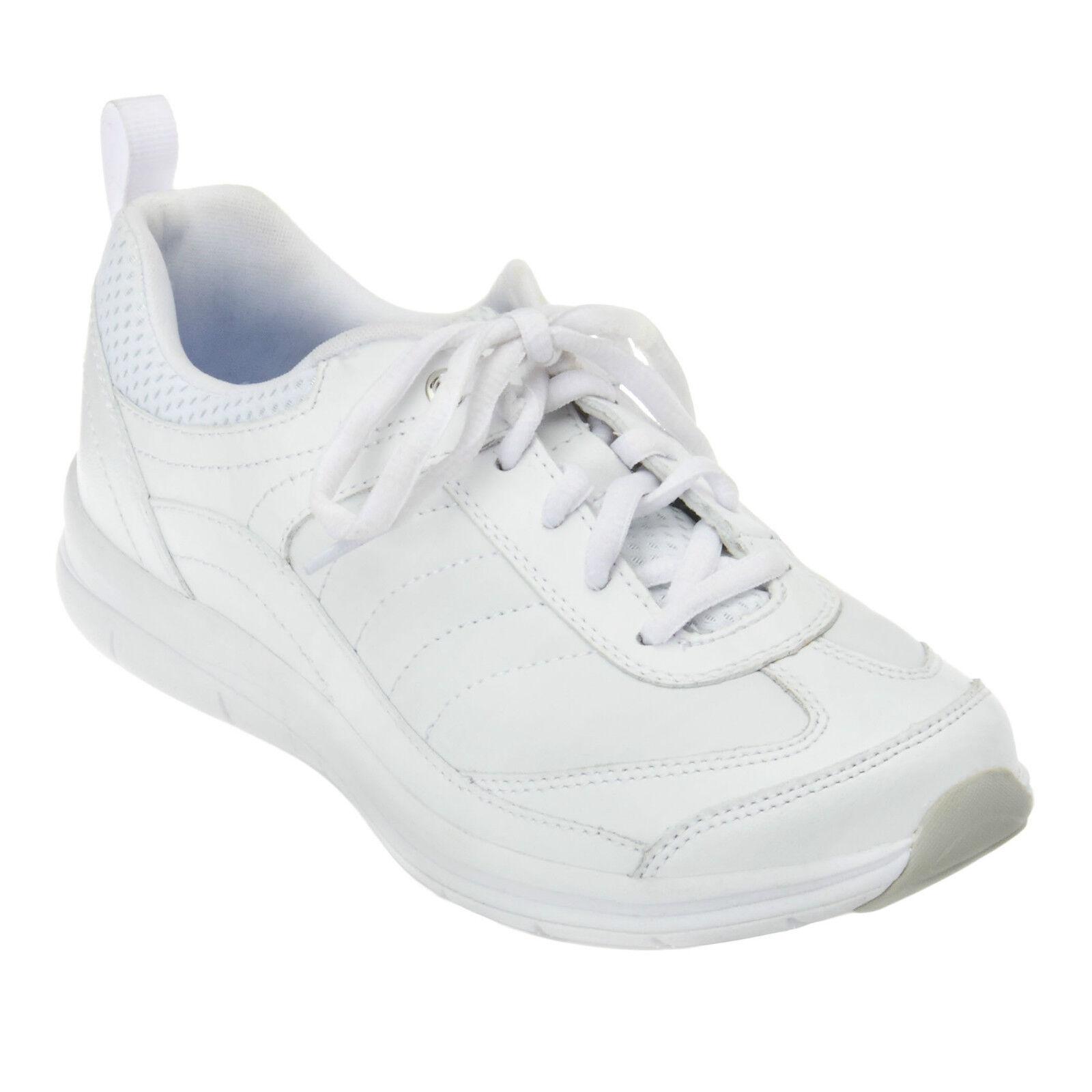 Easy Spirit Southcoast athletic shoe GEL WEISS Leder sz 6 WIDE NEU