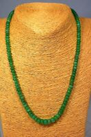 Chrysopras 125 Ct. Kette Collier Classic Edelstein Heilstein Schmuck Halskette