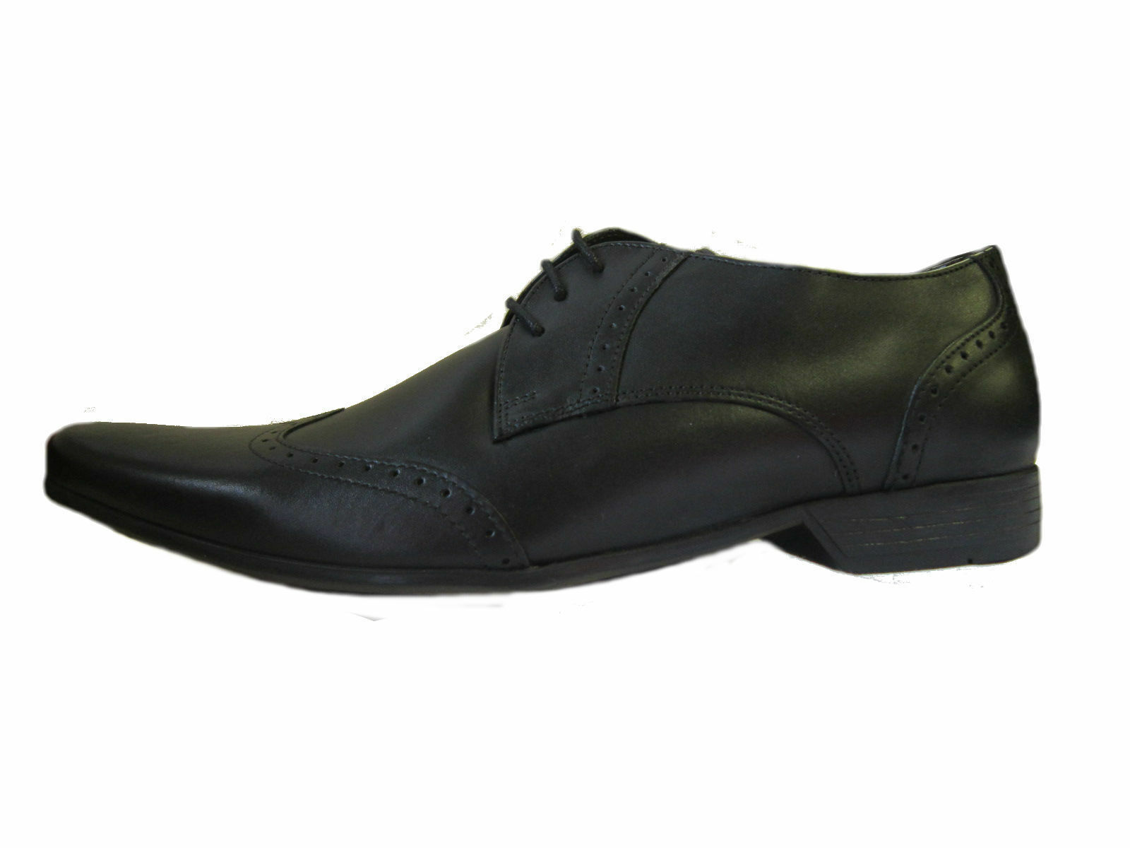 BASE LONDON  Herren WAXY FORMAL BLACK LEATHER LACE UP FORMAL WAXY - BUGSY MTO  (R36A) (Kett) 80f229