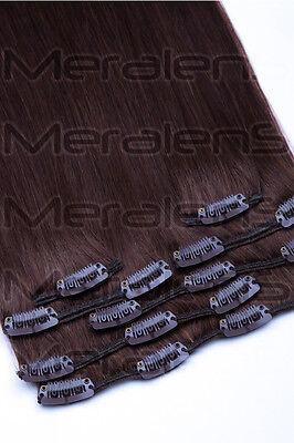 35cm, 40cm, 45cm, 55cm, 60cm Clip In Set 7 Tressen Remy Echthaar Extensions