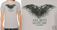 all Men Must Die Game Of Thrones Mens Crow / Raven T-shirt