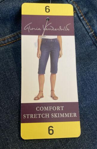 NWT Women/'s Fairfax GLORIA VANDERBILT Comfort Stretch Skimmer Capri Missy Size 6