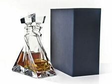"""Bohemian Crystal Glass """"Lovers""""  Decanter Gift Set, Transparent"""