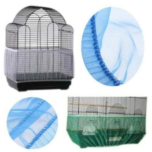 Soft Airy Bird Cage Seed Catcher Seeds Guard Parrot Nylon Mesh Net Cover DB