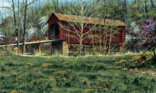 Old Covered Bridge Wallpaper Mural by York RA0209M 9' H x 15' W   FREE SHIPPING