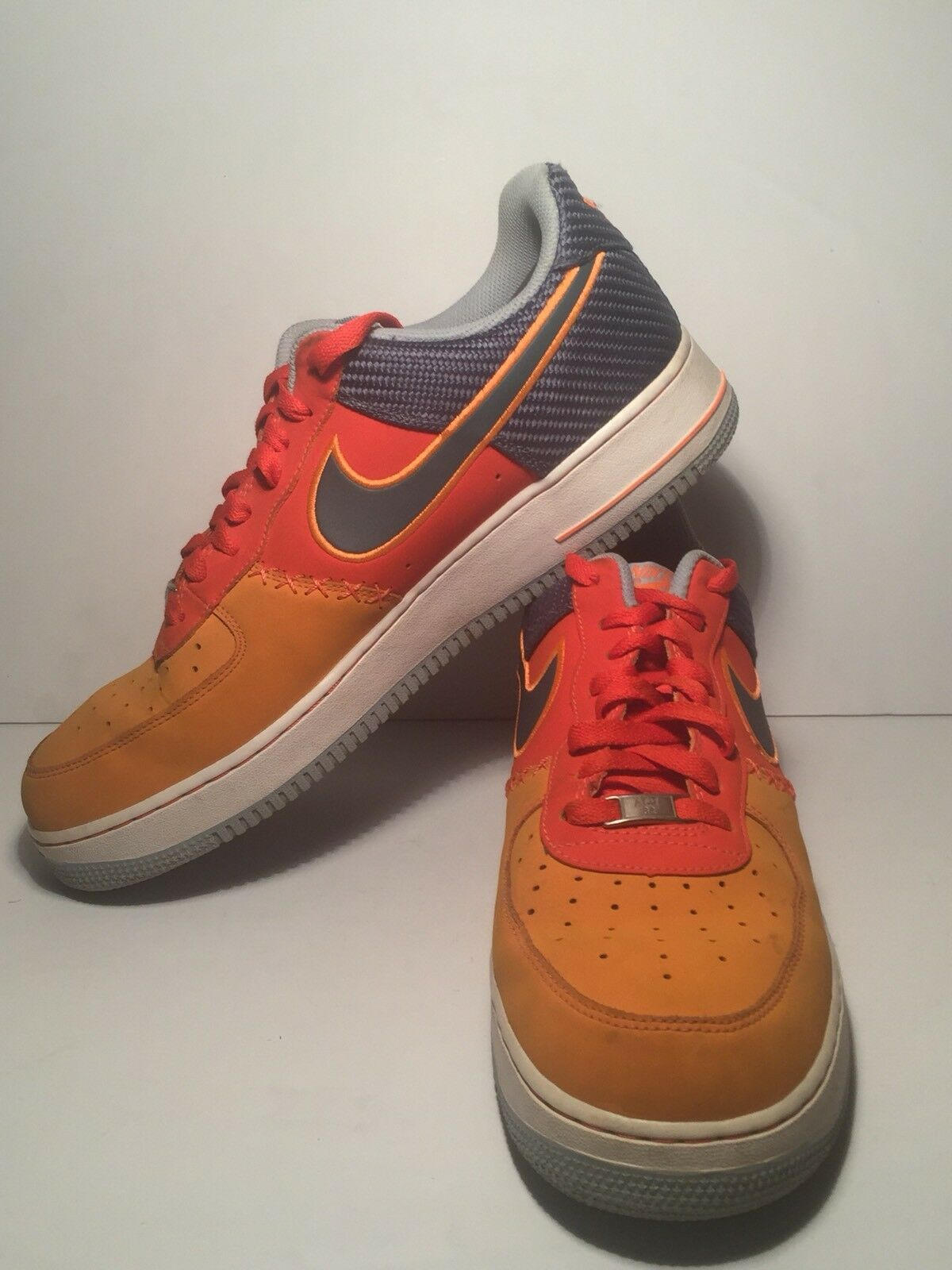 Nike air force 1 af-1 82 orange basso scarpe da basket uomo numero 13
