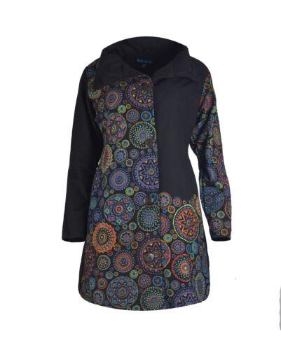 bomuldsjakke Mandala Trench Pattern langærmet Kvinder Coat Ladies vpqwx15P