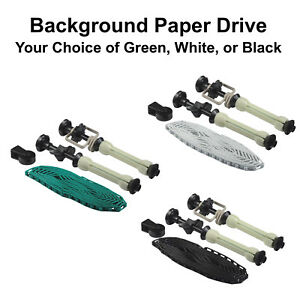 Photo Studio Background Paper Drive Set with Chain Backdrop Single Roller Kit