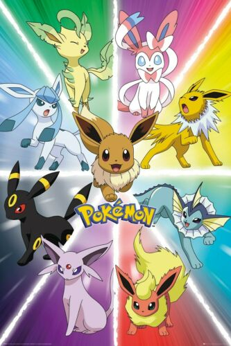 Pokemon PKMN Poster Eevee Evolution 61x91.5cm
