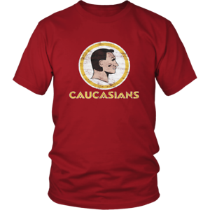 Caucasians T Shirt Funny Birthday Cotton Tee Vintage Gift For Men Women