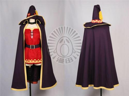 Megumin Cosplay KonoSuba God/'s Blessing on this Wonderful World Costume custom