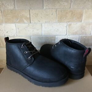 b69899cdcfc Details about UGG Neumel Black Waterproof Leather Chukka Ankle Boots Size  US 11 Mens