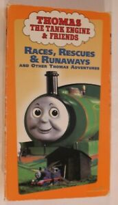 Thomas-and-Friends-VHS-Tape-Races-Rescues-amp-Runaways-Children-039-s-Video