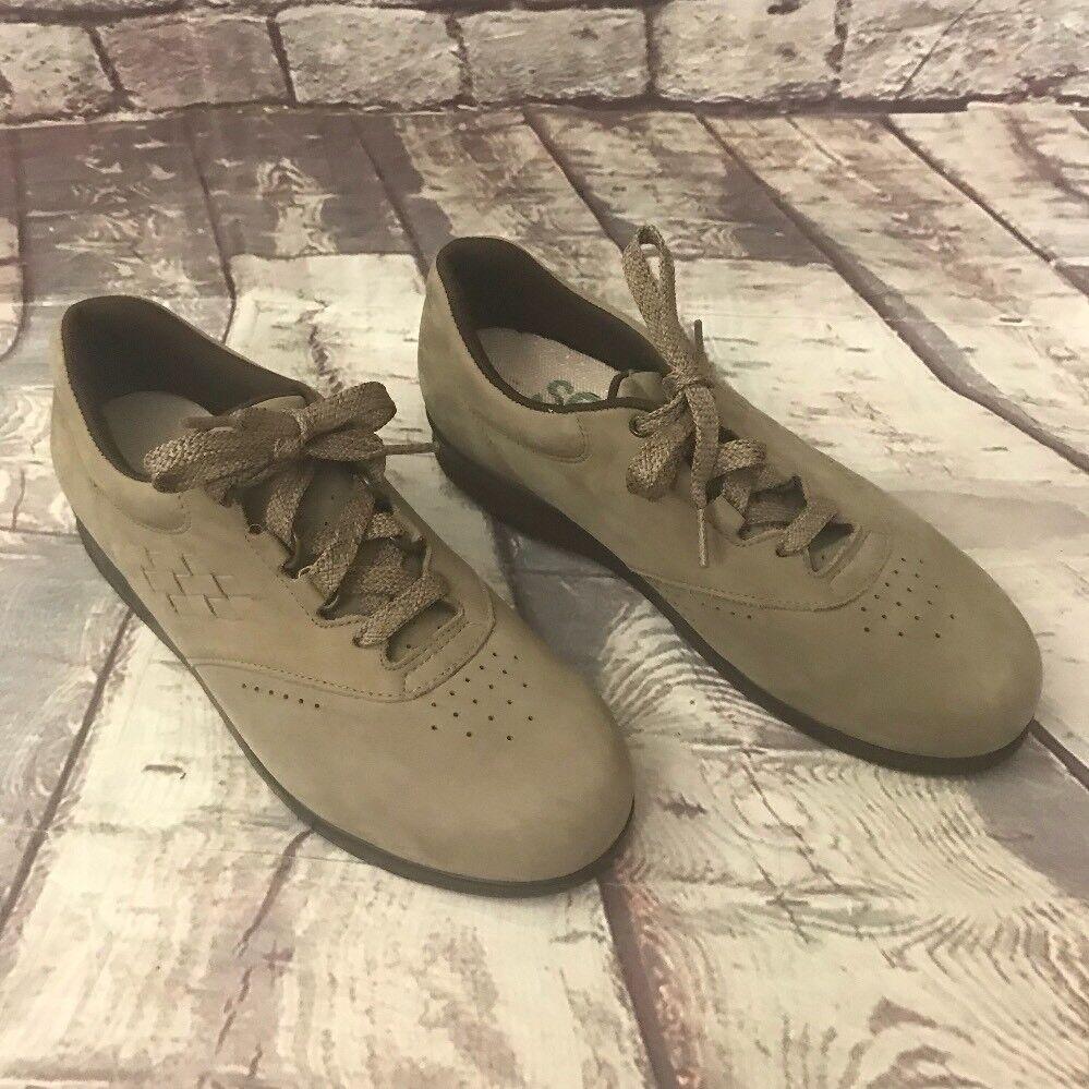 SAS Women 7 N Beige Taupe Suede Leather Comfort Orthopedic Walking shoes Comfort