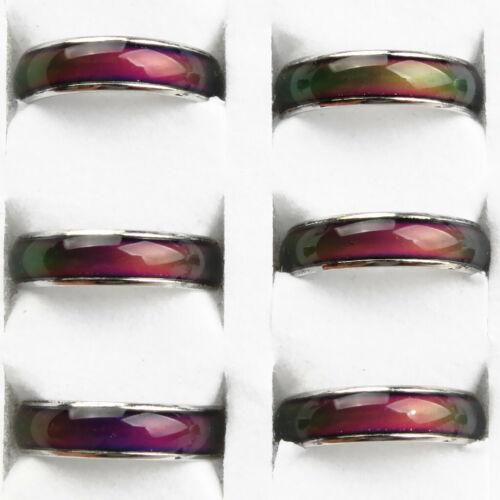10x Farbe veränderbar Stimmung Gefühl Ring Stimmung Farbwechsel Unisex