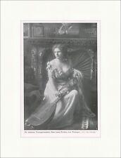 Die Vortragskünstlerin Elsa Laura von Wolzogen 1908 Adel Berufe F Original 00102