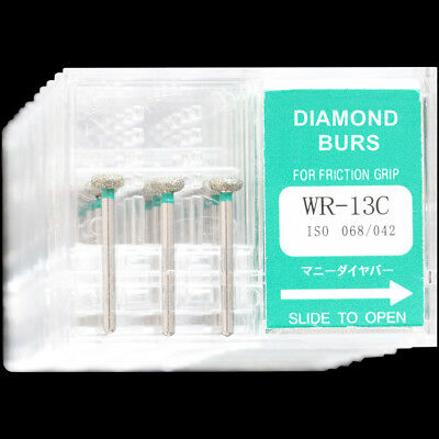 10Boxes WR-13C MANI Dental High Speed Handpiece Diamond Burs FG ...