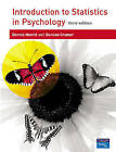 Introduction to Statistics in Psychology by Duncan Cramer, Dennis Howitt (Paperback, 2004)