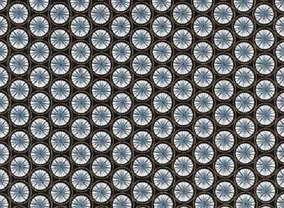 RED ROOSTER QUILTING DRESSMAKING  AQUA PAISLEY 100/% COTTON  FABRIC FAT QUARTER