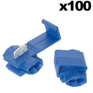 100 blue scotch lock wire connectors quick splice terminals crimp rh ebay co uk