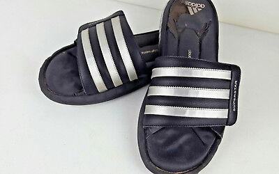 wielka wyprzedaż uk ujęcia stóp naprawdę wygodne Adidas Superstar Black Silver Stripe Slip On Flip Flop Slides Men's Size 11    eBay