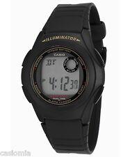 Casio F200W-9A Mens Black Resin Digital LCD Sports Watch w/ Illuminator NEW