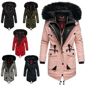 Marikoo warme Damen Winter Jacke Winterjacke Parka Stepp