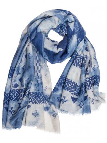 Caspar DA DONNA VINTAGE COTONE sciarpa foulard con motivo grande Nero Rosa Antico Nuovo