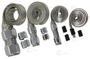 Chrome-Braided-Steel-Hose-Sleeving-Kit-Vacuum-Fuel-Lines-Heater-Radiator-Hose