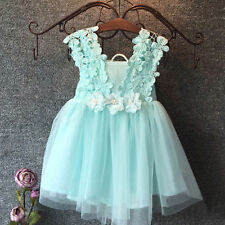 New Flower Girl Dress Wedding Bridesmaid Birthday Party Formal Pageant Dress k33