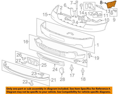 GM OEM Front Bumper-Side Bracket Left 22777965
