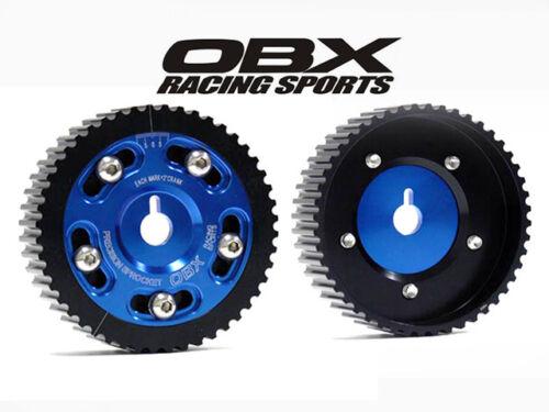 OBX Blue 2PCS Adj Ex//In Cam Gear Sprocket Fit 1990-1997 Miata 1.6L 1.8L DOHC