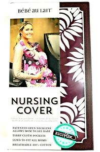 Bebe-Au-Lait-Camille-Nursing-Cover-Cotton-Burgundy-and-White-One-Size