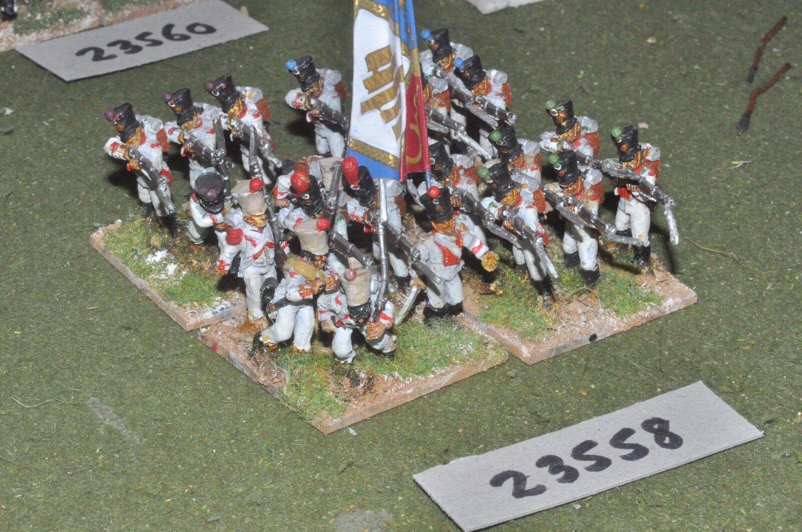 25mm napoleonic   italian - line 23 figures - inf (23558)