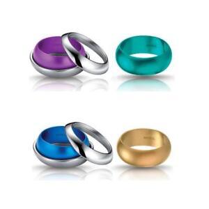 Anello-Donna-BREIL-SECRETLY-Intercambiabile-Alluminio-Colorato-Acciaio-4-Misure