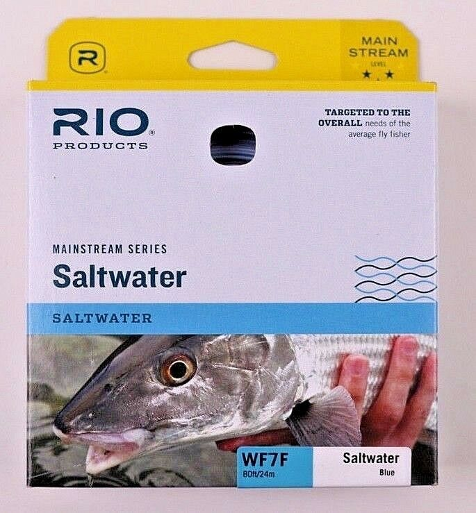 Rio Mainstream Saltwater Fly Line WF7F bluee Free Fast Shipping 6-20760