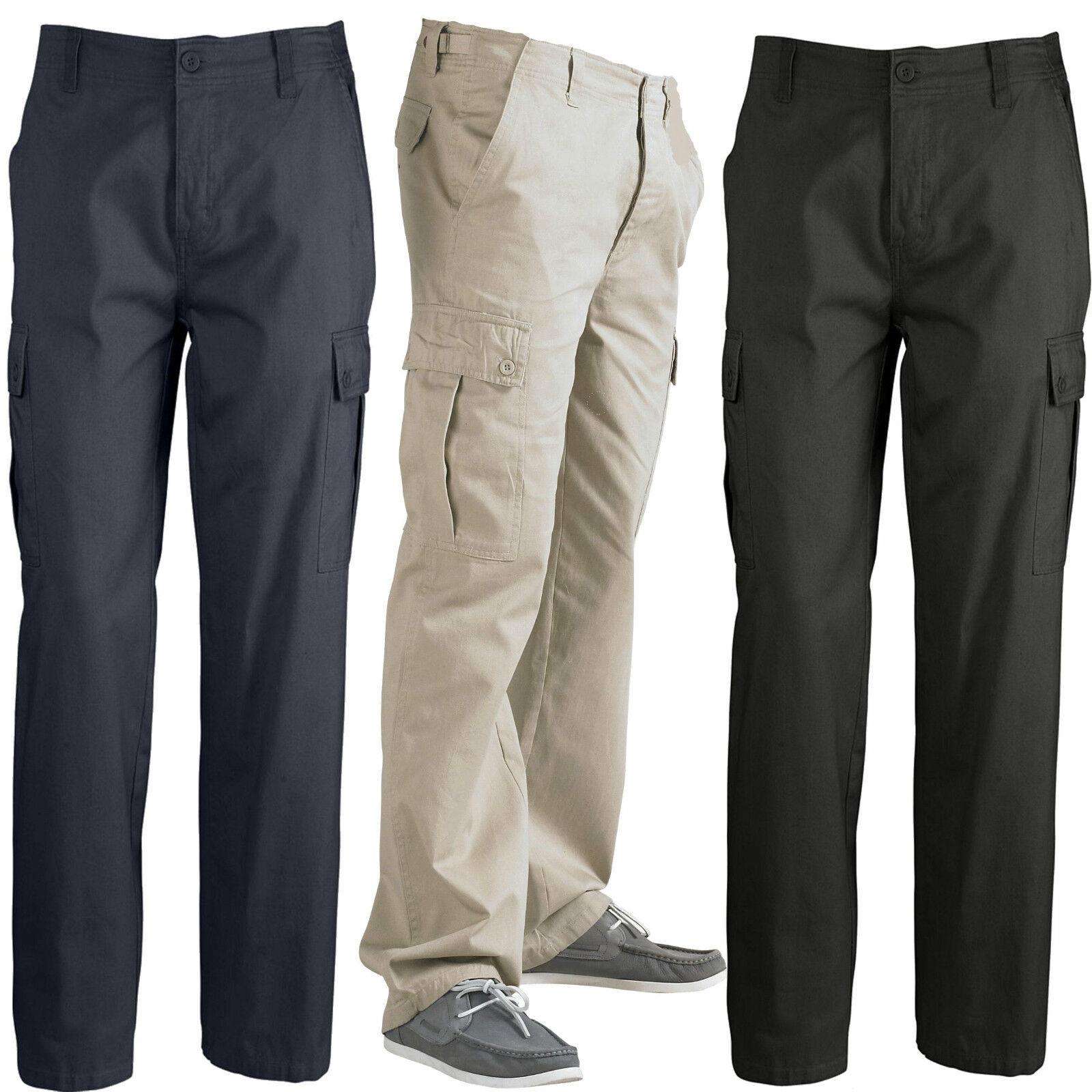 Sols Men's Cargo Pants Leisure Cargo Trousers Plus Size XS S M L XL XXL 3XL