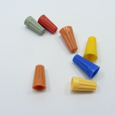 P1-P4 Plastic Twist Cable Nuts Wire Connector Thimble Variety Colors on