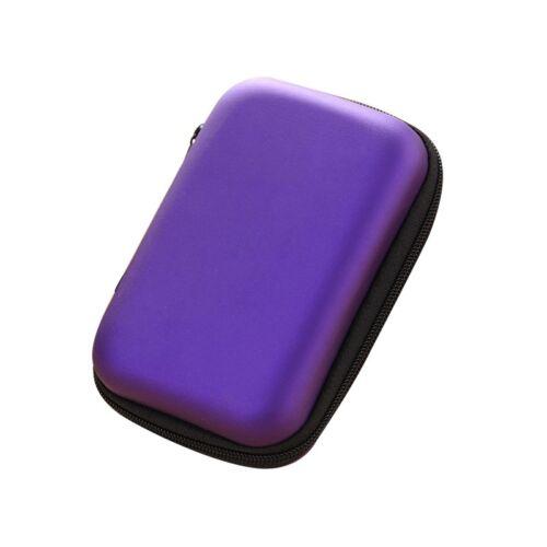 Earphone Storage Bag Portable Box Case Data USB Cable Charger Mini Zip Pocket