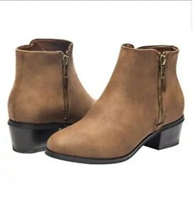 Luoika Womans Ankle Boots, Chunky Block