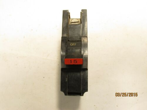 Federal Pacific FPE NA115 1 Pole 15 Amp 120//240 Volt Stablok Circuit Breaker