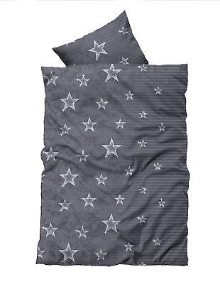 Möbel & Wohnen 4 Teilig Flausch Bettwäsche 135x200 Cm Sterne Stars Grau Silber Thermofleece Ein Bereicherung Und Ein NäHrstoff FüR Die Leber Und Die Niere