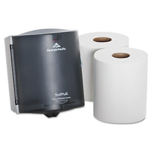 GEORGIA-PACIFIC-Trial-Kit-Dispenser-9-5-8-x-12-1-8-x-9-3-8-Translucent-Smoke
