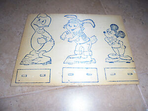 Vintage-60-s-wooden-painting-Disney-Heroes-New