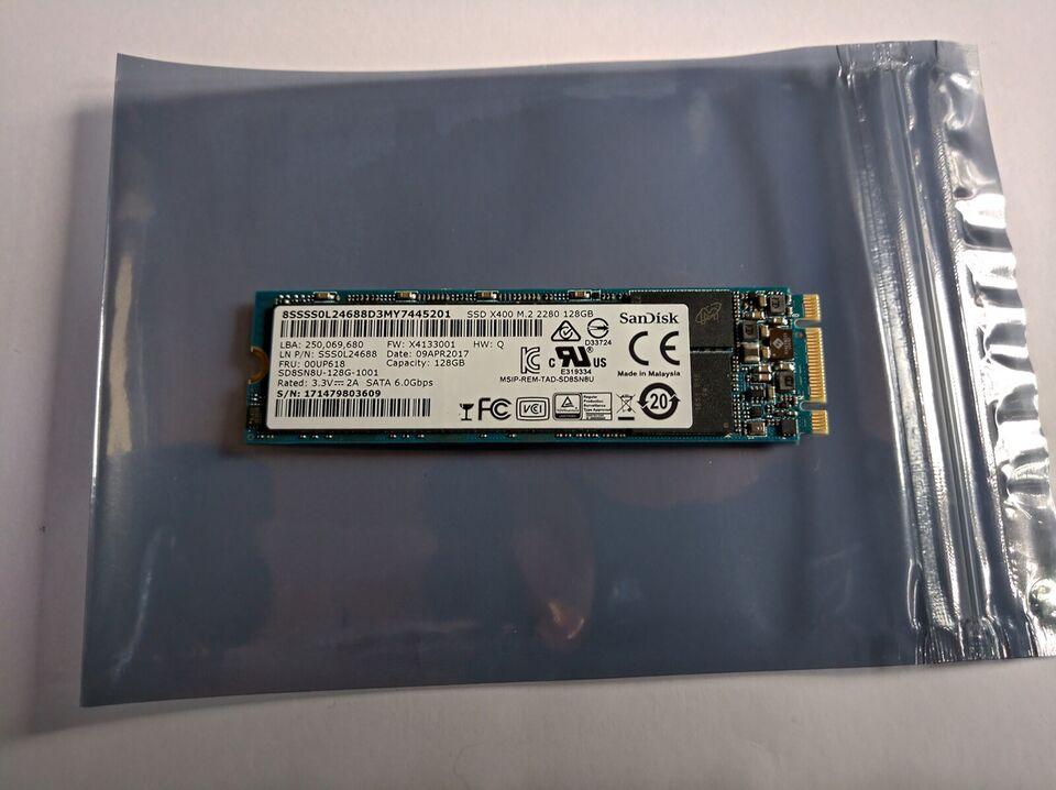 SanDisk SSD M.2 2280, 128 GB, Perfekt