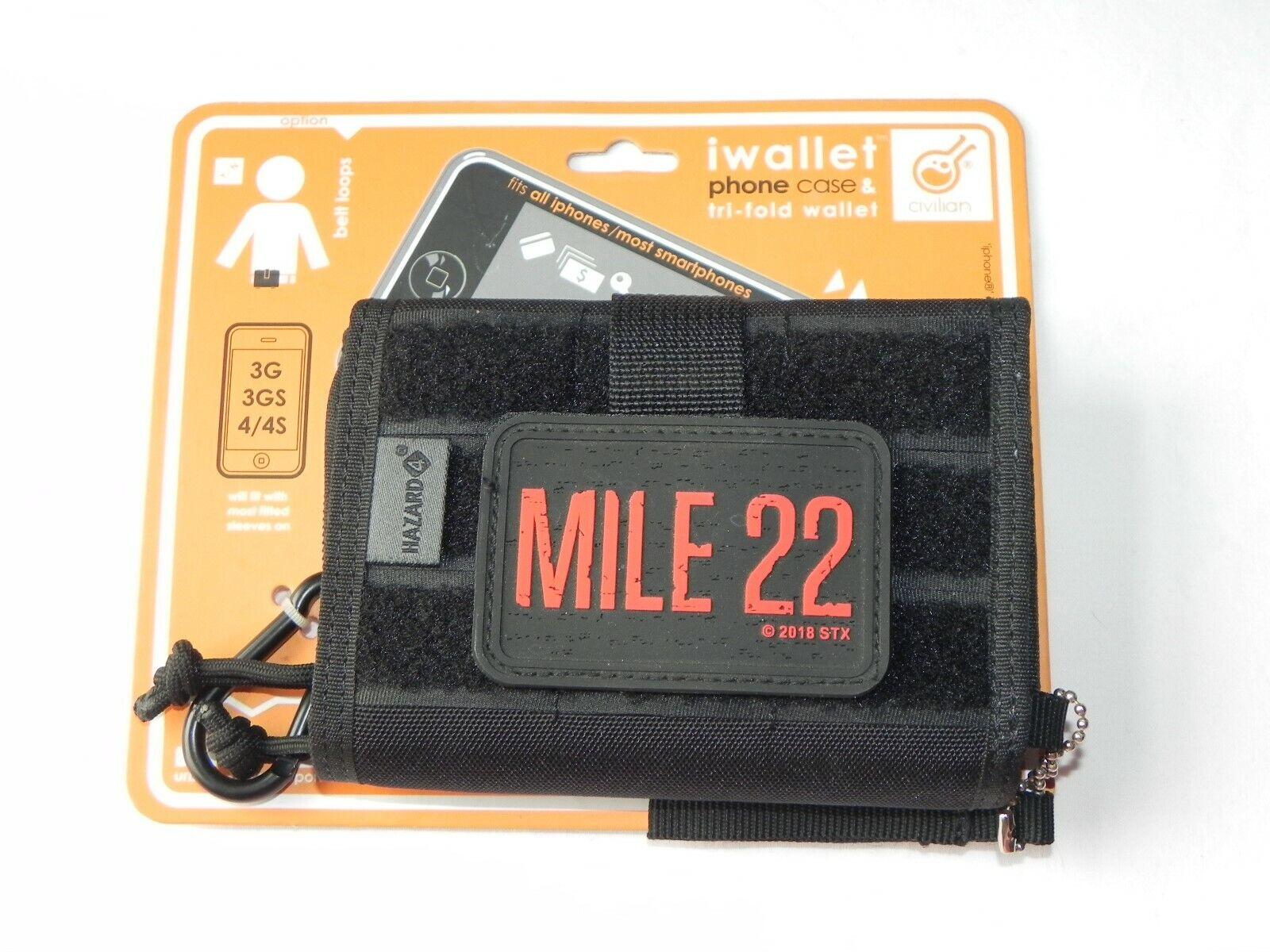 Hazard 4 Mile 22 Travel Pack Wallet iwallet Phone Case Tri-Fold Belt Loop New
