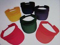 12 Colored Cotton Sun Visors Bright Colors Visor Bulk Party Supplies Favors