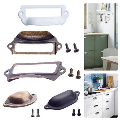 12X  Kitchen Cupboard Door Cabinet Cup Drawer Bronze Shell Pull Handle Furniture