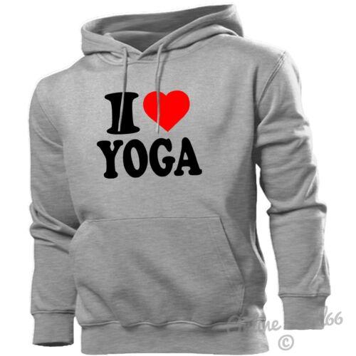 I Love Yoga Felpa con cappuccio CUORE Felpa uomini donne bambini salute fitness bikram spirituale