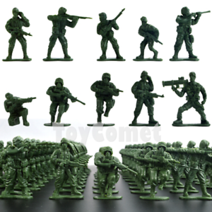 50-pcs-Military-Plastic-Toy-Soldiers-Army-Men-Green-1-36-Figures-10-Poses
